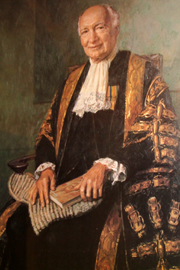 Portrait of Lord Denning by Michael Noakes